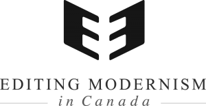 Editing Modernism in Canada